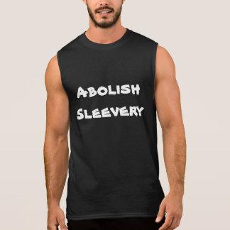 Schaffen Sie Sleevery Sleeveless T ab Ärmelloses Shirt