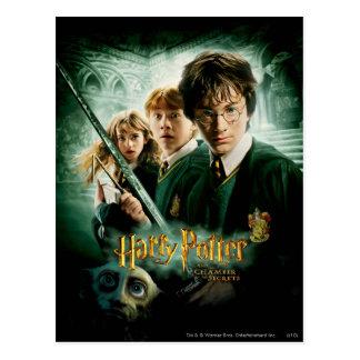 Schaftmaschinen-Gruppen-Schuss Harry Potters Ron Postkarte
