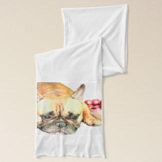 Schal der Weihnachtsfranzösischen Bulldogge