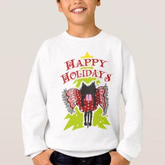 Schal und schwarze Katze (frohe Feiertage) Sweatshirt
