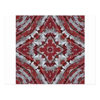 Schale des roten Scheunen-Farben-Kaleidoskops Postkarte