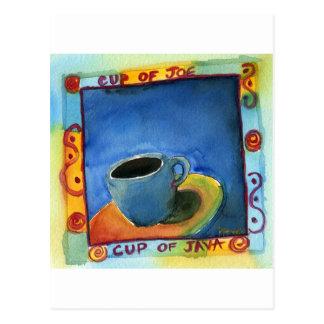 Schale von Java-Schale von Joe Postkarte