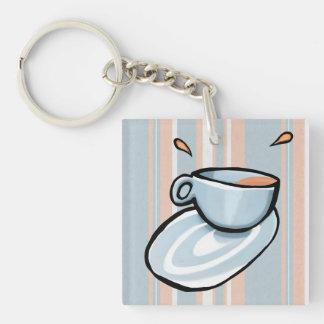 Schalen-Gemischblau Keychain Schlüsselanhänger