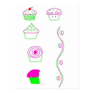 Schalenkuchen Postkarte