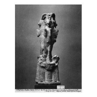 Schalenstand gebildet von drei Steinböcken Postkarte