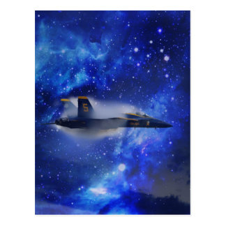 Schallmauer-Flugzeug Postkarte