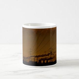 Schalten Sie den Power ein Kaffeetasse