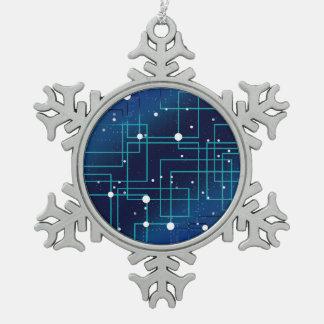 Schaltplan Schneeflocken Zinn-Ornament