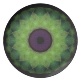 Schandfleck-schlechtes AugeLimoner Mandala Melaminteller