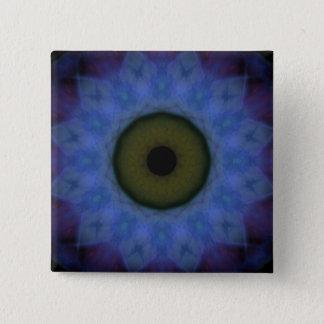 Schandfleck-violetter blauer böser Blick Quadratischer Button 5,1 Cm