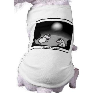 Scharaden nachts ärmelfreies Hunde-Shirt