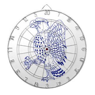 Scharf-shinned Falke-marschierendes Zeichnen Dartscheibe