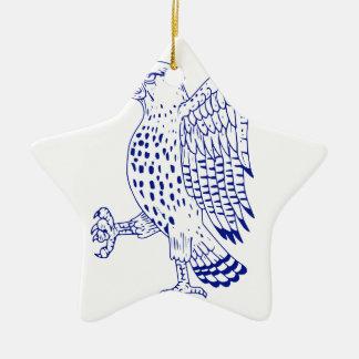 Scharf-shinned Falke-marschierendes Zeichnen Keramik Ornament