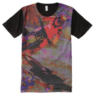 Scharfe Drehung   - Motocross-Reiter T-Shirt Mit Komplett Bedruckbarer Vorderseite