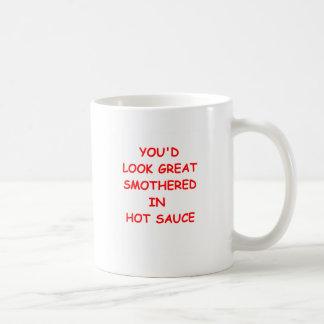 scharfe Soße Kaffeetasse