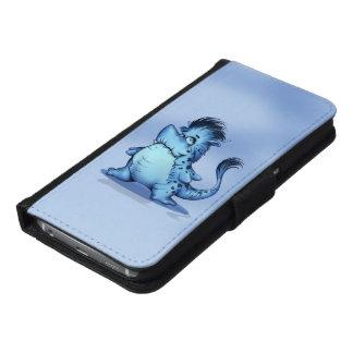 SCHARFER Geldbörsen-Kasten ALIEN-MONSTER Samsung Galaxy S6 Geldbeutel Hülle