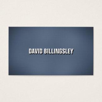 Scharfer und sauberer Schatten-Text auf blauer Visitenkarte