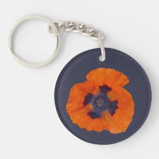 Scharlachrot der orange Mohnblumen-1 Schlüsselanhänger