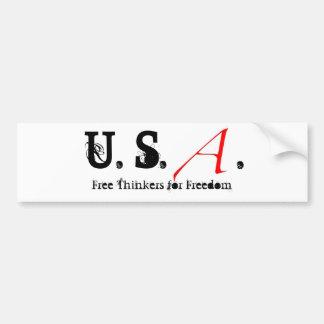 Scharlachrot des Buchstabe-klein, US. , Freie Denk Autoaufkleber