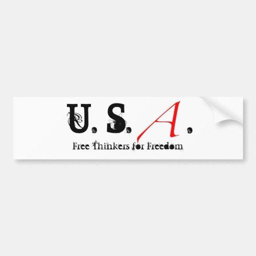 Scharlachrot des Buchstabe-klein, US. , Freie Denk Auto Aufkleber