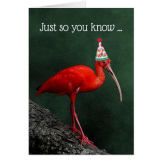 Scharlachrot IBIS festlicher Hut-Geburtstags- Karte