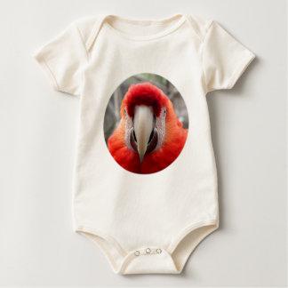 Scharlachrot Macaw- Baby Strampler
