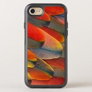 Scharlachrot Macaw-Feder-Nahaufnahme- OtterBox Symmetry iPhone 8/7 Hülle