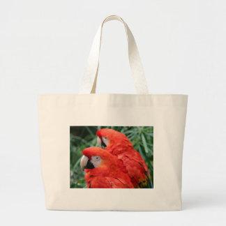 Scharlachrot Macaw- Jumbo Stoffbeutel