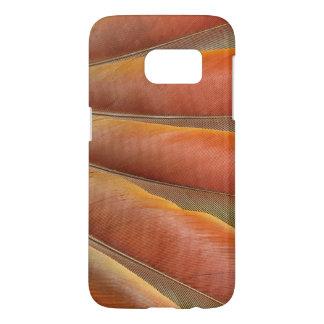 Scharlachrot Macaw-Rot-Orange Feder-
