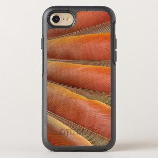 Scharlachrot Macaw-Rot-Orange Feder- OtterBox Symmetry iPhone 8/7 Hülle