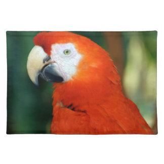 Scharlachrot Macaw- Tischset