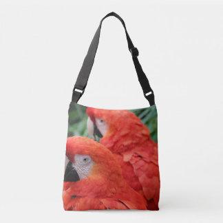 Scharlachrot Macaw- Tragetaschen Mit Langen Trägern