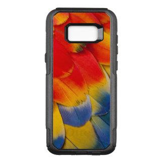 Scharlachrot Macaw-Versteck-Feder- OtterBox Commuter Samsung Galaxy S8+ Hülle
