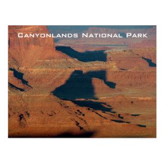 Schatten auf dem Felsen Postkarte