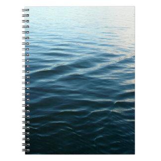 Schatten blaues Wasser-der abstrakten Notizblock