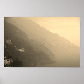 Schatten der Amalfi-Küstenlinie Poster