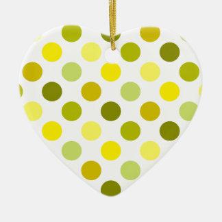 Schatten der GoldTupfen Keramik Herz-Ornament