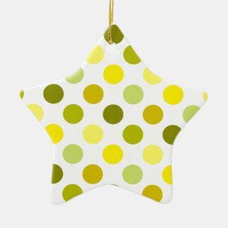 Schatten der GoldTupfen Keramik Stern-Ornament