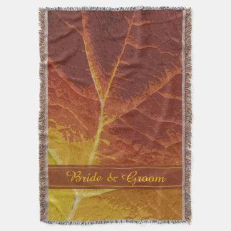 Schatten der Herbst-Hochzeit Decke