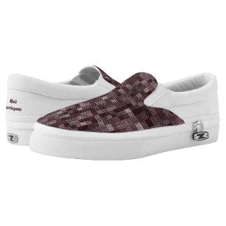 Schatten der tiefen blassen Rose Slip-On Sneaker