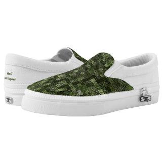 Schatten des Armee-Grüns Slip-On Sneaker