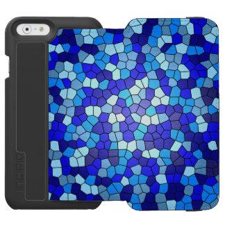Schatten des blauen Buntglases durch Shirley Incipio Watson™ iPhone 6 Geldbörsen Hülle