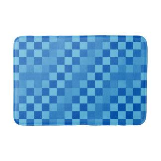 Schatten des blauen Schachbretts Badematte
