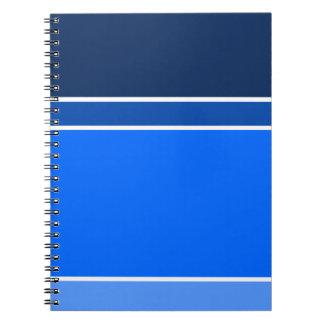 Schatten des Blaus Notizblock