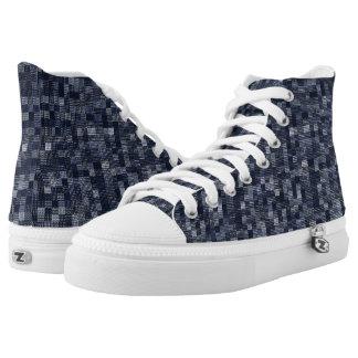 Schatten des bundesstaatlichen Blaus Hoch-geschnittene Sneaker