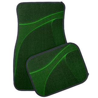 Schatten des elektrischen Aurora-Grüns Autofußmatte