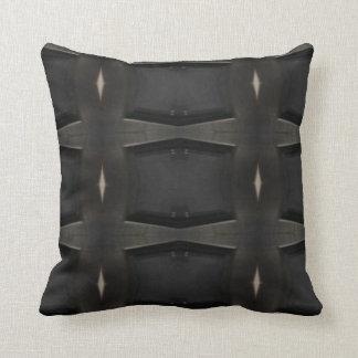 Schatten des grauen klassischen Holzkohlen-Musters Kissen