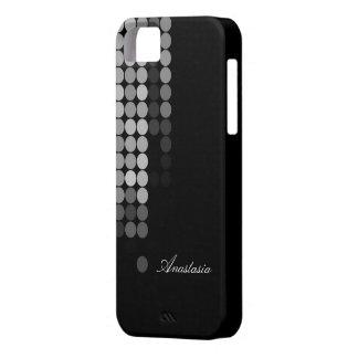 Schatten des grauen Punkt-Musters iPhone 5 Hülle