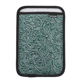 Schatten des grünen Vintagen Zinn-Fliesen-Blickes Sleeve Für iPad Mini