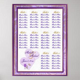 Schatten des Lavendels und des lila Poster